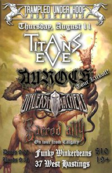 Titans Eve, Auroch, Unleash the Archers, Sacred Ally